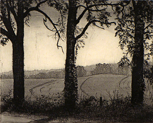 Shady Characters 8x10 etching $375 fr