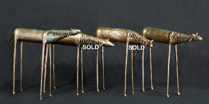 Horses 14x19x4 fiberglass resin $950 each