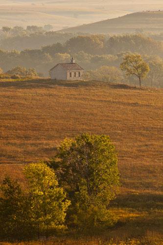 Fall Sunrise, Fox Creek Valley, Tallgrass Prairie-(FH47)
