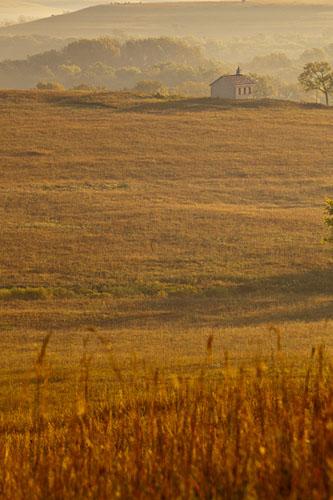 Fall Sunrise, Fox Creek Valley, Tallgrass Prairie-(FH48)