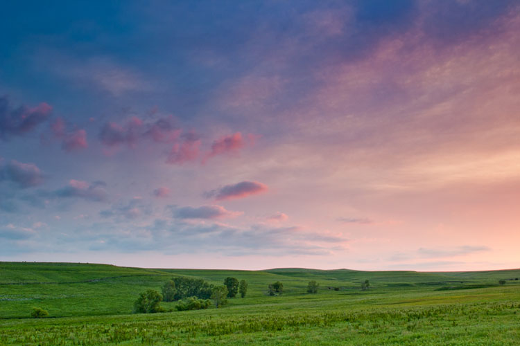 Tallgrass Prairie National Preserve,  Sunset-(FH80)
