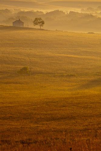 Fall Sunrise, Fox Creek Valley, Tallgrass Prairie-(FH54)