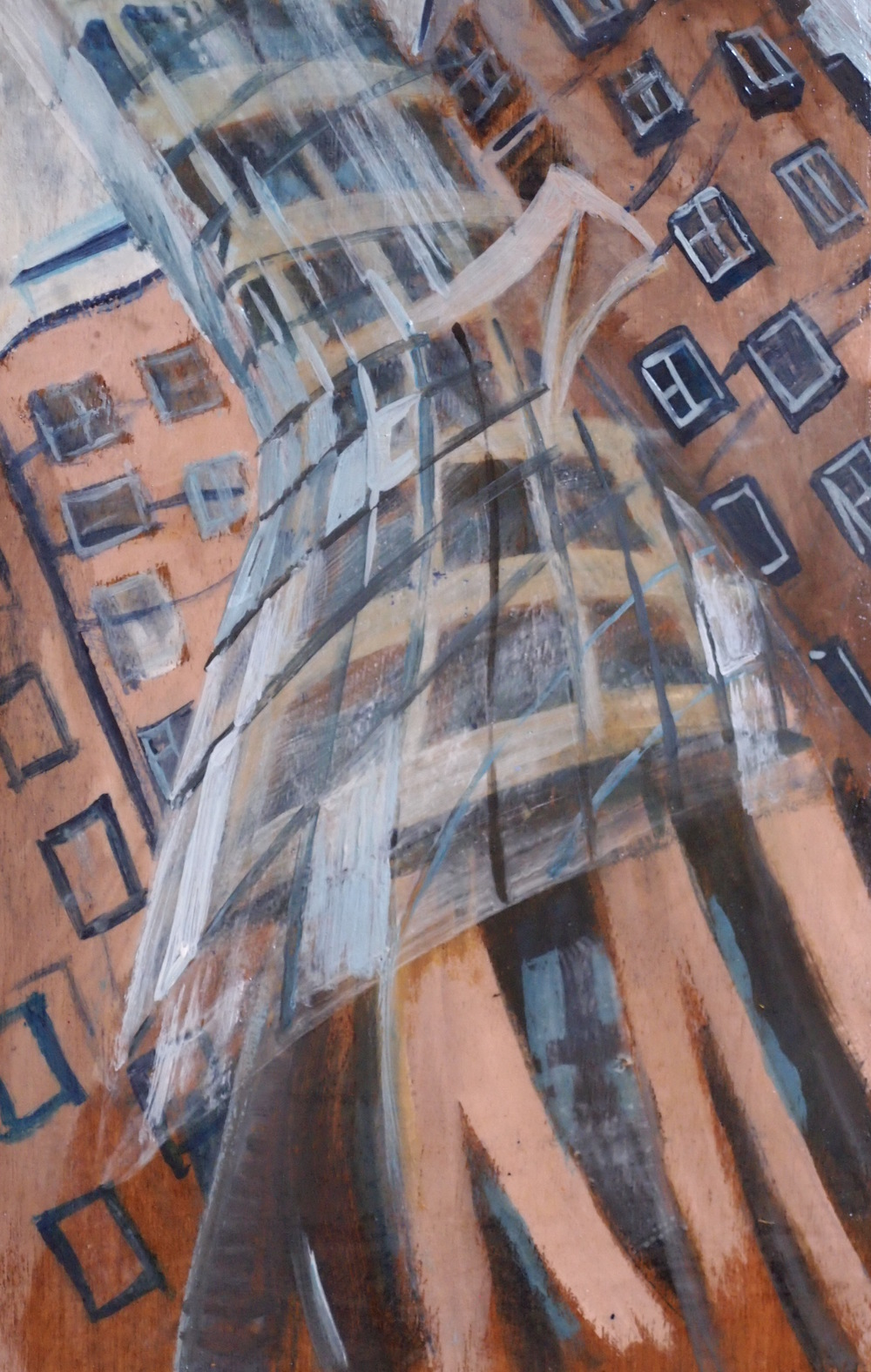 The Dancing House  11.5x7.75  ab  $350  uf