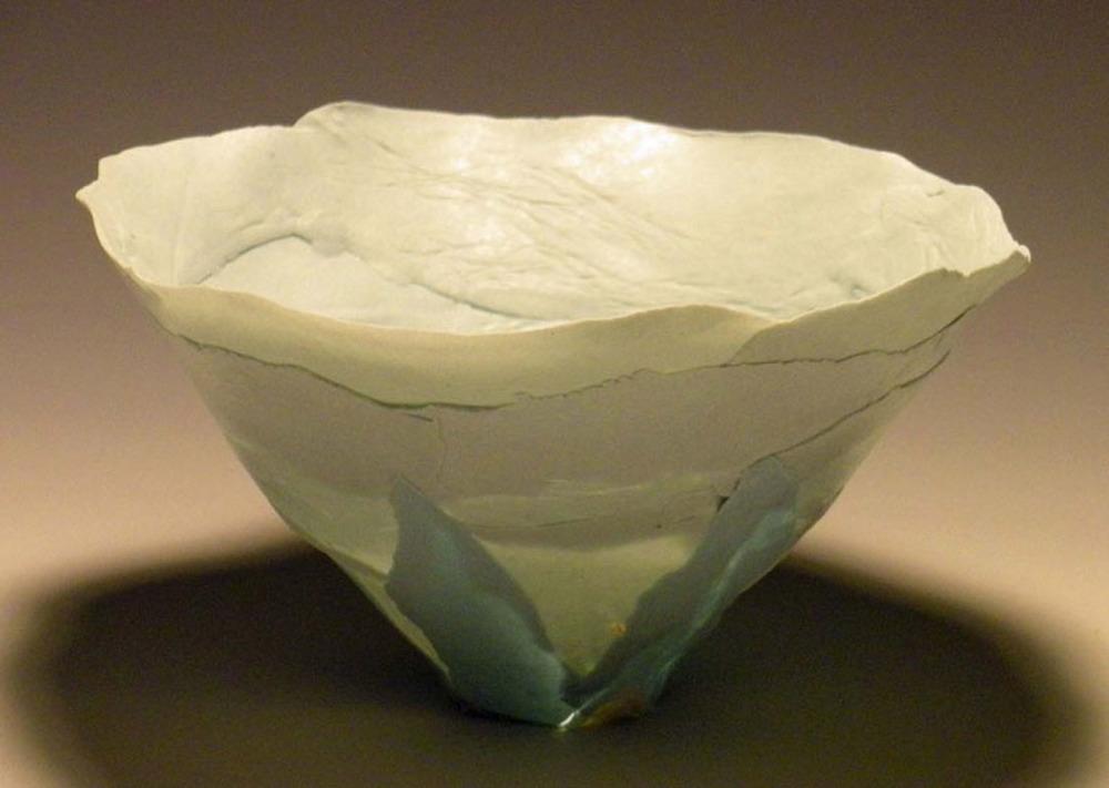 Mostly Blue Solo Bloom 4x4x4 ceramic $50