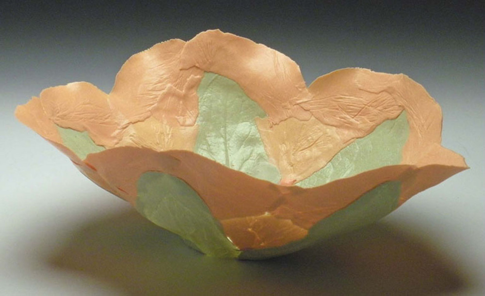 Orange Green Solo Bloom 5x7x7 ceramic $80