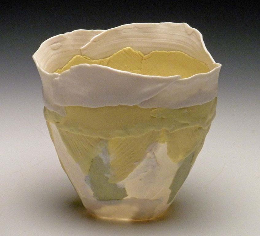 Small Yellow Solo Bloom 3x3x3 ceramic $40