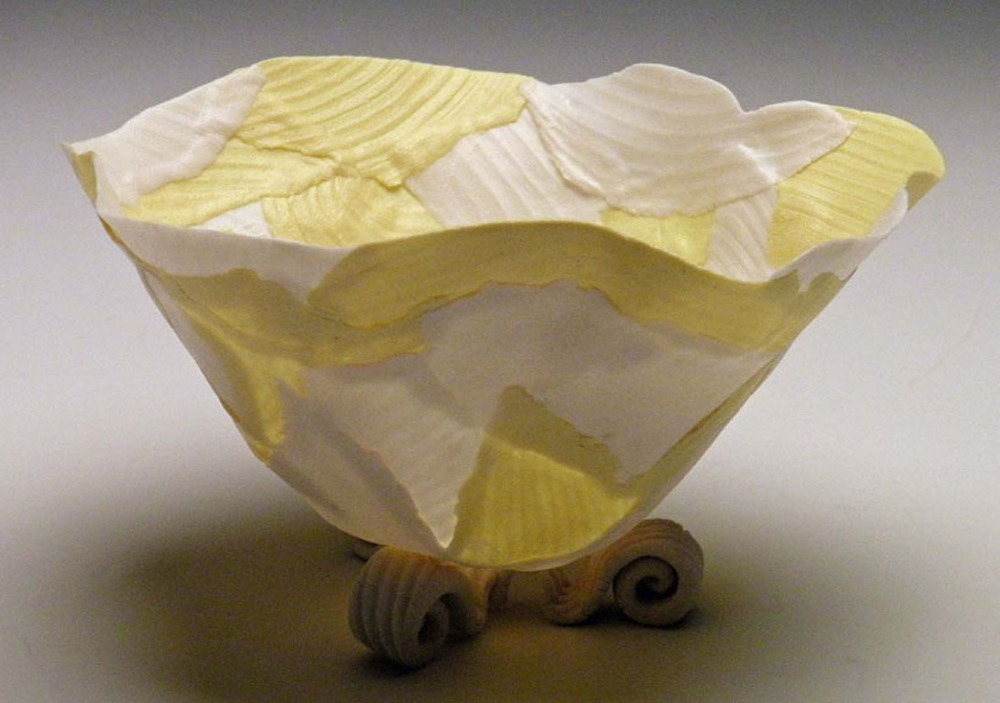 Yellow Solo Open Bloom 4x4x4 ceramic $60