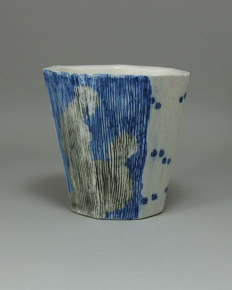 2. Vanitas Cup 3.5x5.75x5.75 Ceramic $45