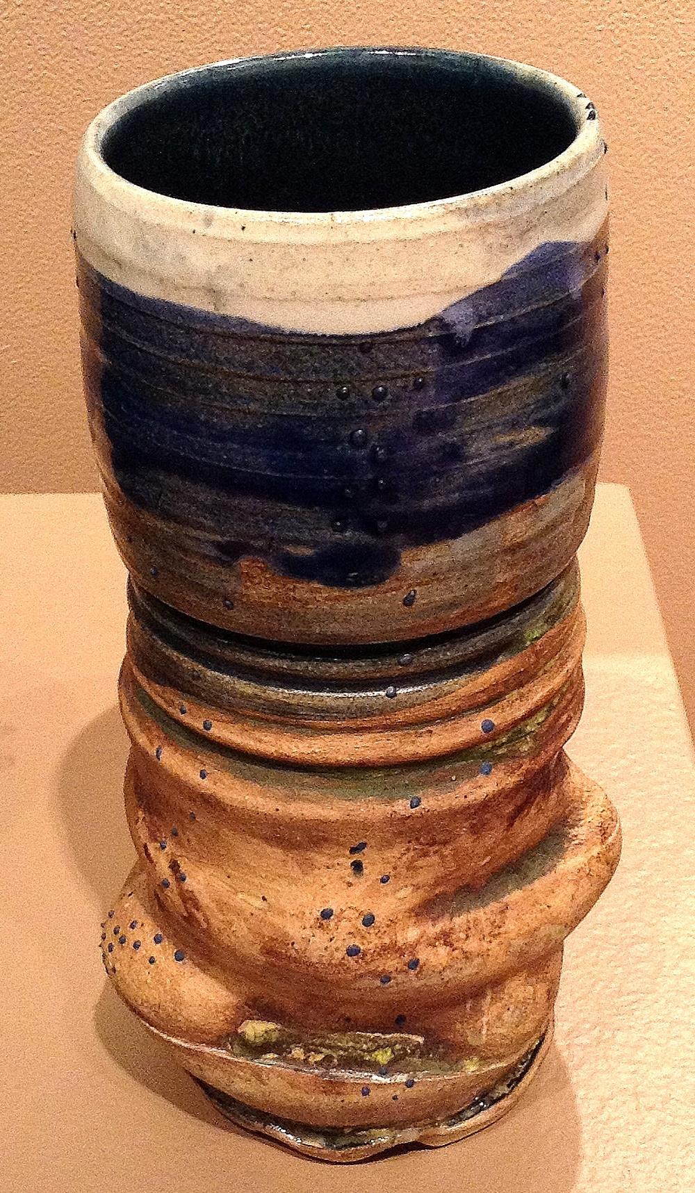 Small Landscape Vase ceramic $25