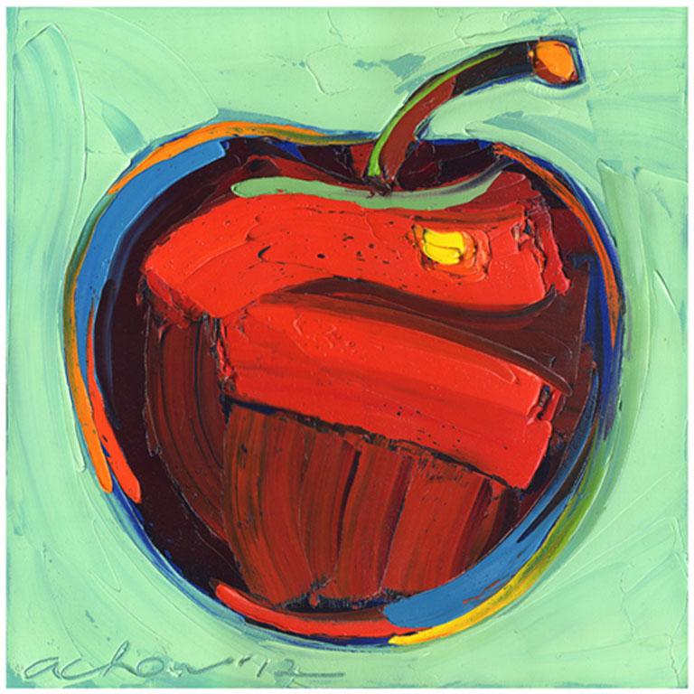Allan Chow Lovely Apple 14x14 oc $450 uf