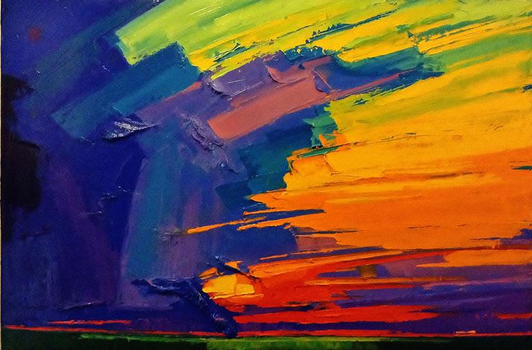 Allan Chow Majestic Sunset 24x26 oc $3,450 uf