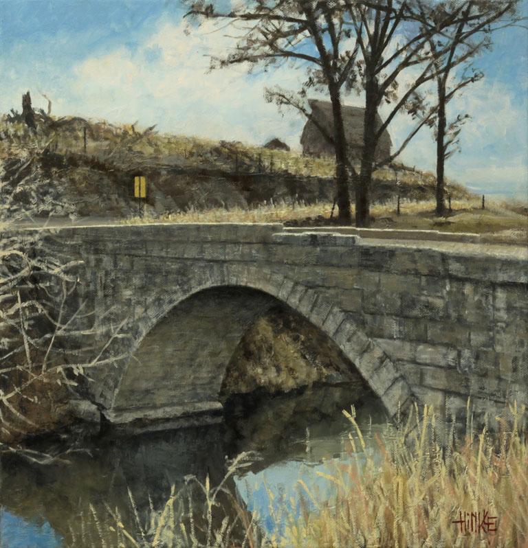 Brian Hinkle Fox Bridge 16x16 oc $1,000 fr