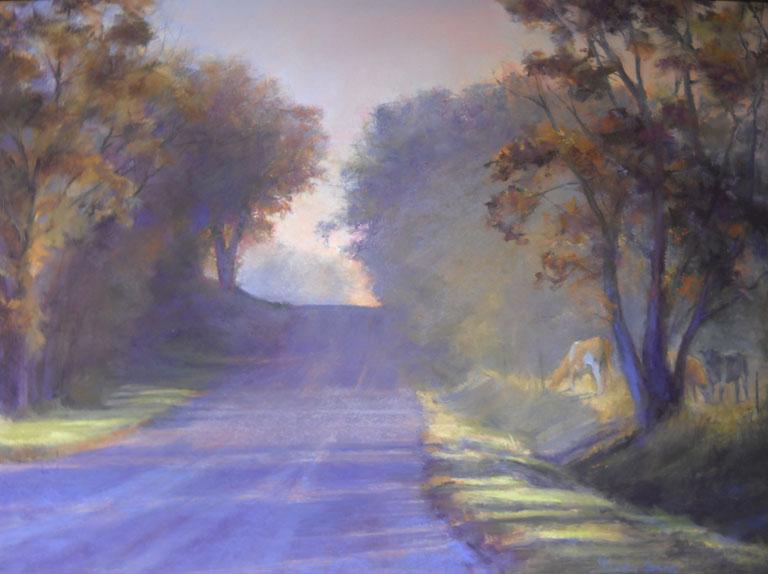Elaine Lierly Jones Through the Trees 17x23 pastel $1,200 fr