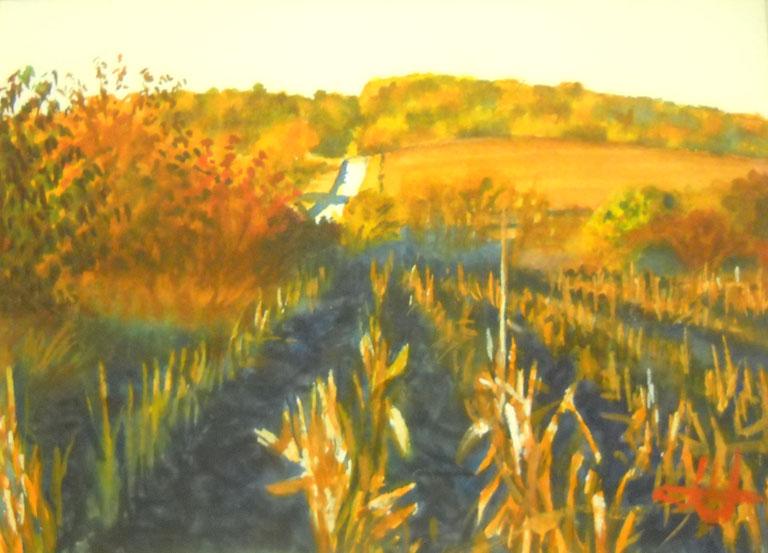 John Hulsey Morning Field Study 5x7 wc $240 fr