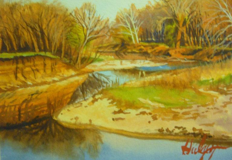 John Hulsey Sunset Reflections 5x7 wc $240 fr