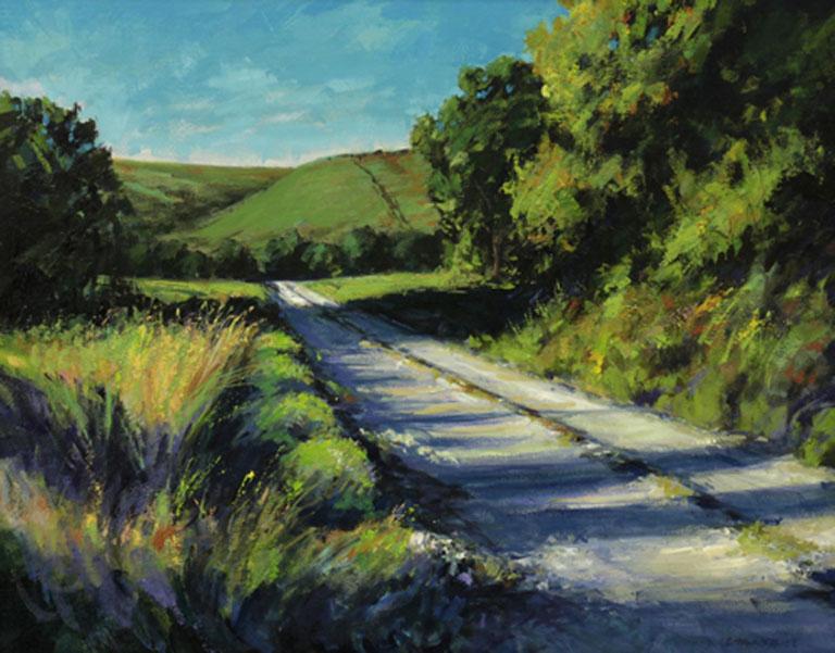 Joseph Loganbill First Light on Silver Creek Road 16x20 ob $1,600 fr