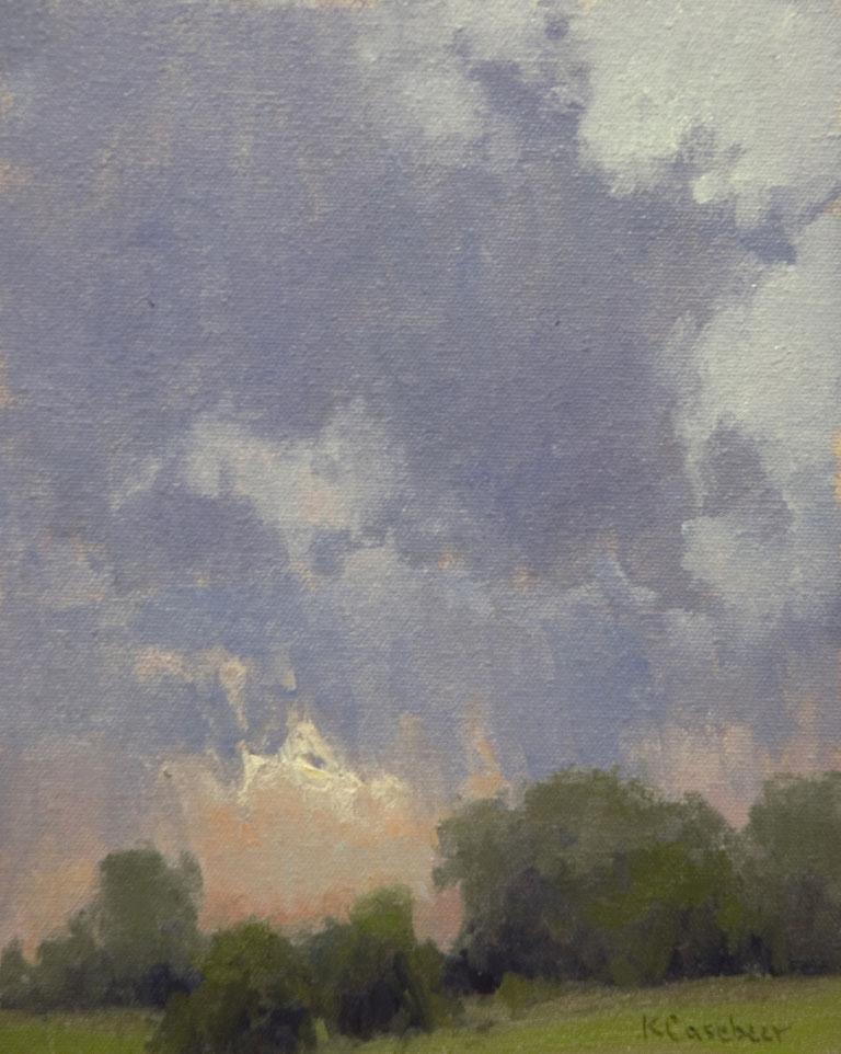 Kim Casebeer Passing Storm 10x8 oc $800 fr