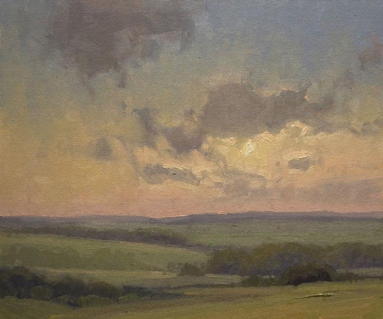 Kim Casebeer Memorial Day Sunset 10x12 oc $1,000 fr