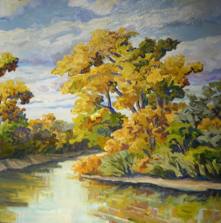Kristin Goering Kansas Creek Banks 18x18 ac $535 uf