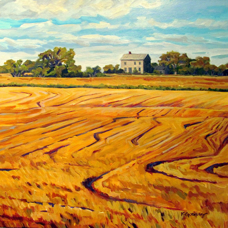 Kristin Goering  Stone House and Wheat Stubble 20x20 ac $660  fr