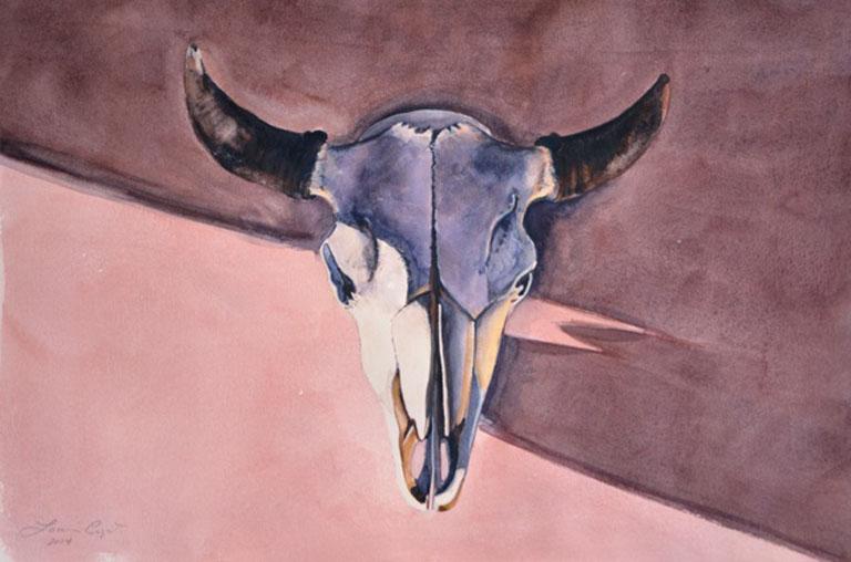 Louis Copt Santa Fe Skull 15x22 wc $1,350 fr