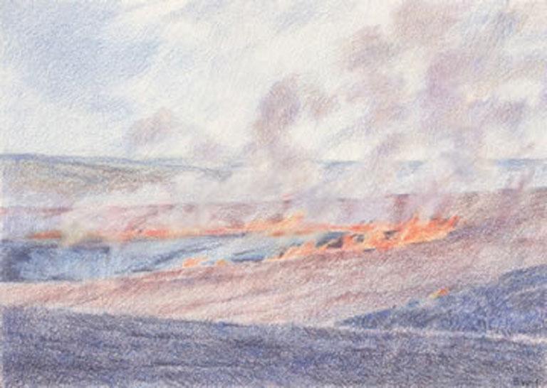 Barbara Waterman-Peters Day Burn Flint Hills 5x7 cp $300 fr