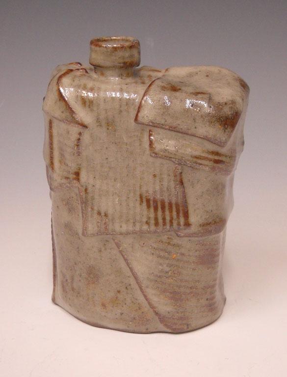 Linear Landscape Series Bottle 6x4.5x2 ceramic $65