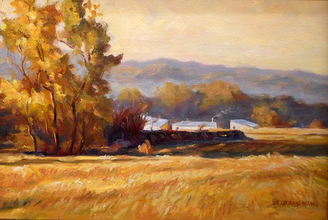 Late Fall at Meriden Outskirts  10x14  OC  $320