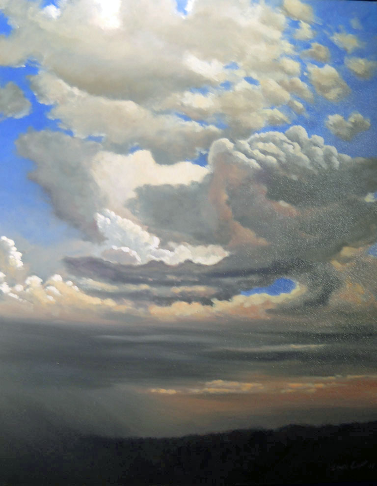 Louis Copt  Squall Sky  24x30  oc  $2,515   fr