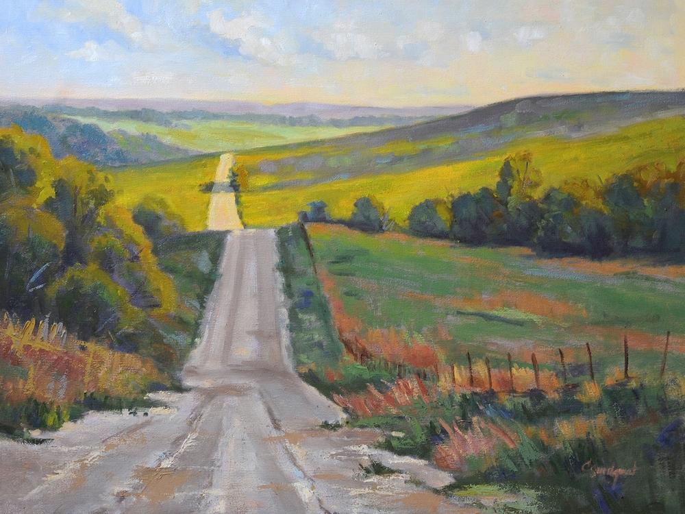 Cristine Sundquist Cloud Shadows 18x24 oil $860