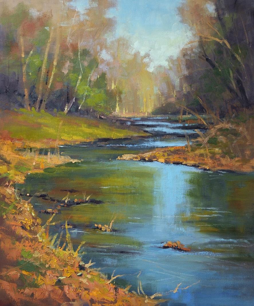 Cristine Sundquist Coyne Creek 20x24 oil $950
