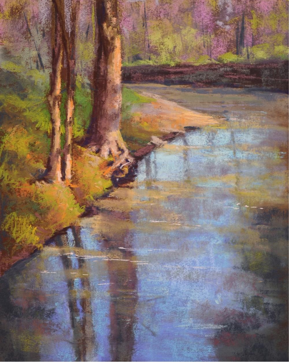 Cristine Sundquist Quiet Water 11x14 pastel $375