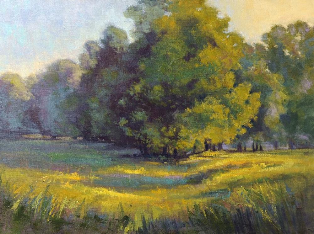 Cristine Sundquist Grove at Sunset 18x24 oil $860