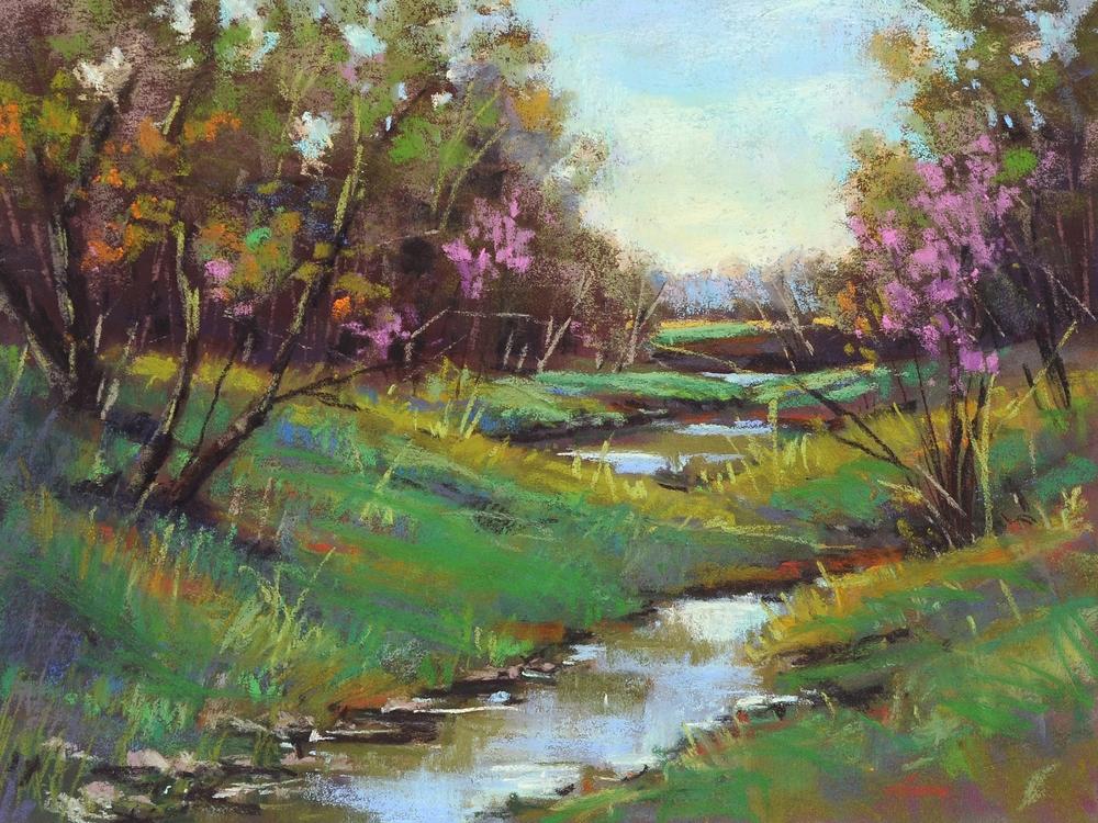 Cristine Sundquist Spring Bouquet 12x16 pastel $400