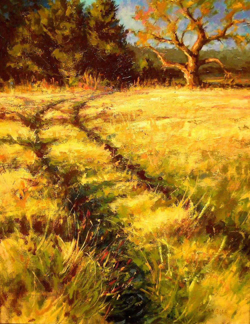 Joseph Loganbill Fall Pasture Trail 11x14 oc $875