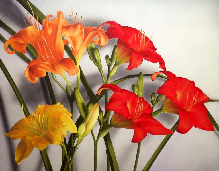 7 Day Lilies 36x46 ac $5,500**