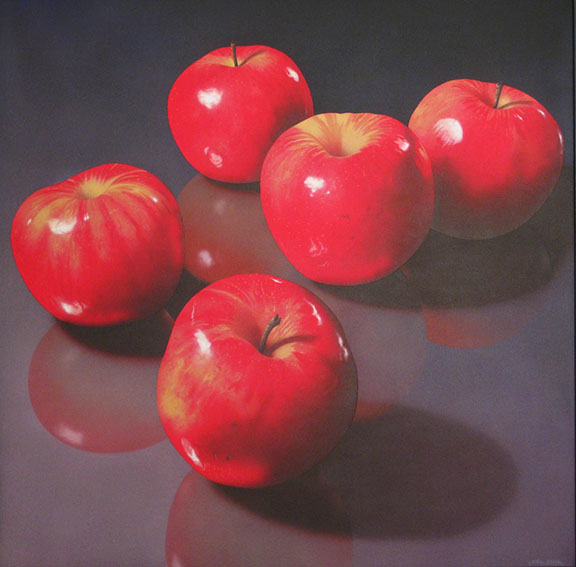 Five Red Apples  42x42  ac  $5,700**