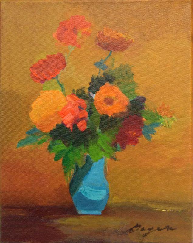 Petit Fleur #1 8x8 oc $500