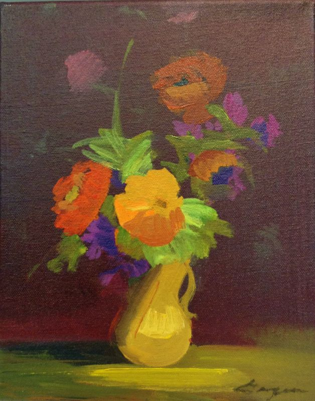 Petit Fleur #5 10x8 oc $500