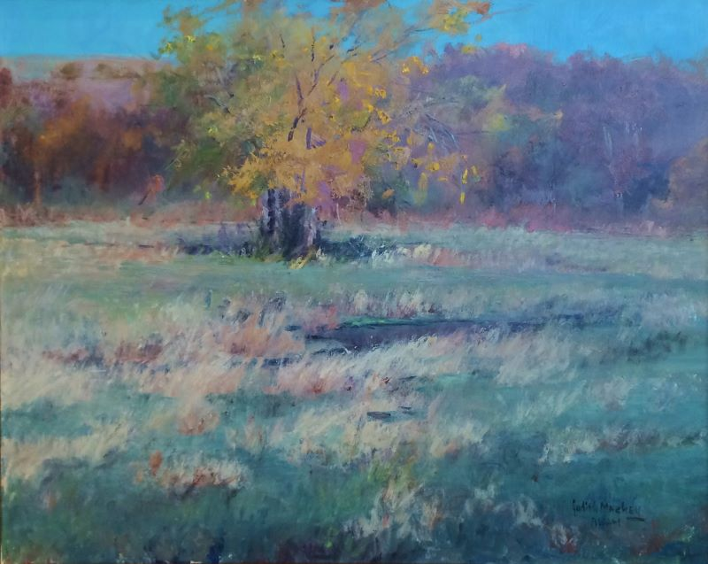 Cottonwood on Den Creek  24x30  oc