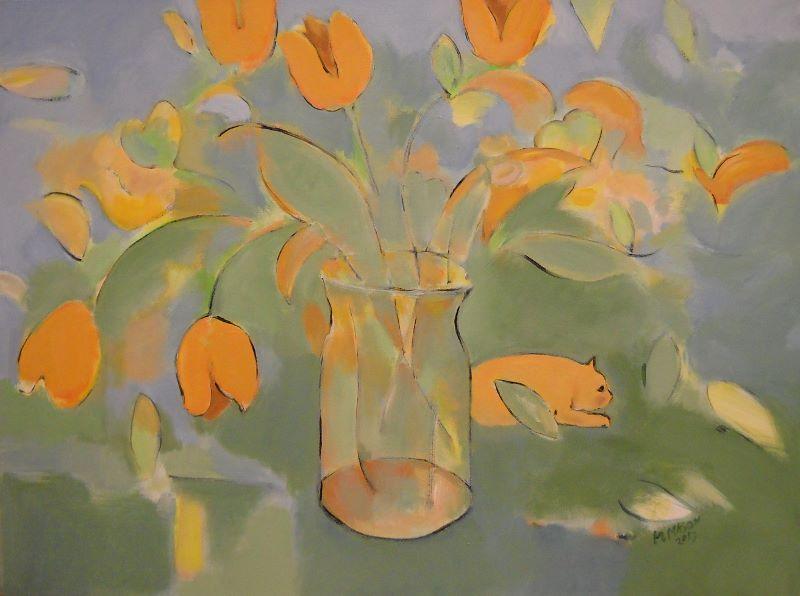 Tulips 40x30 oc $1,400 uf