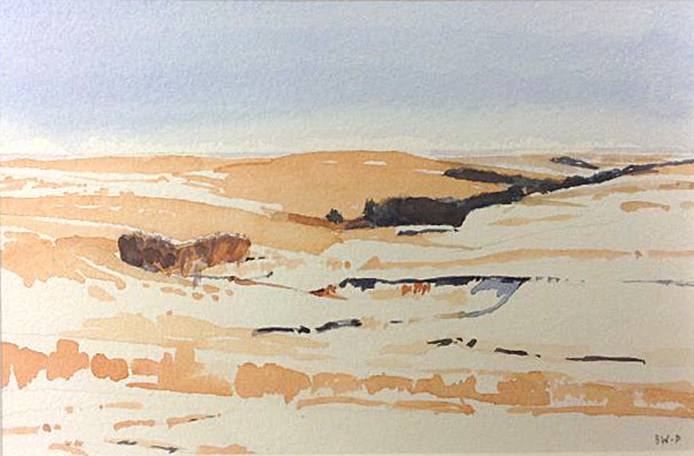 Snow Light, Flint Hills  5x7.5  wc  $300  fr*