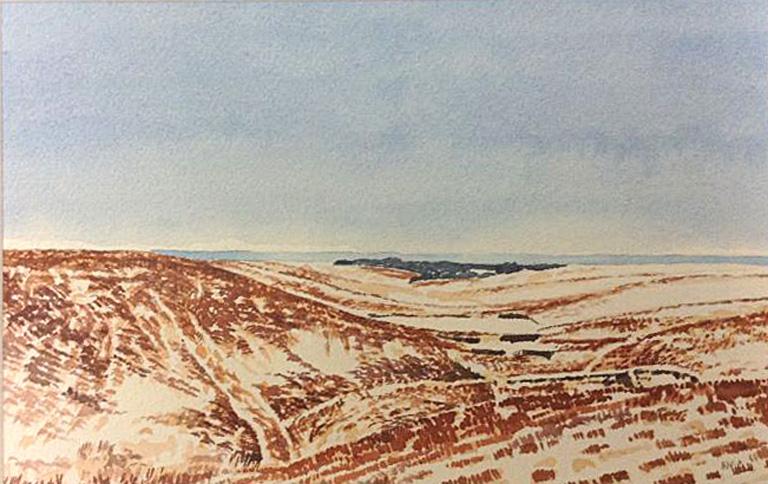 Snow, Flint Hills II 5x8 wc $300 fr*