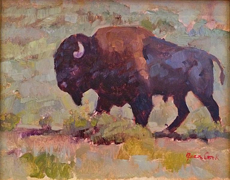 Big Bull Walking 8x10 op $500 fr