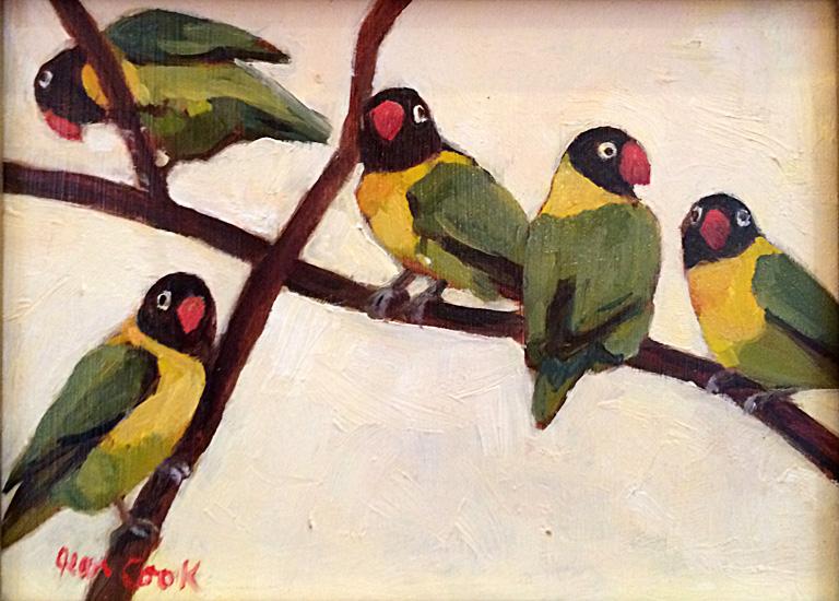 Masked Lovebirds 6x8 op $350 fr