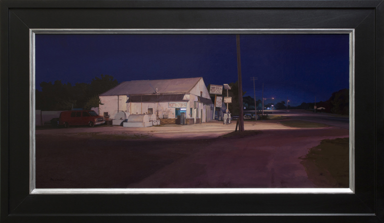 At the Edge of Town  12x24  op  $2,400