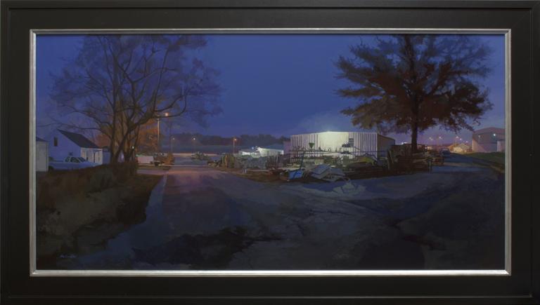 Belmont St. Early Morning 18x35 op $3,600