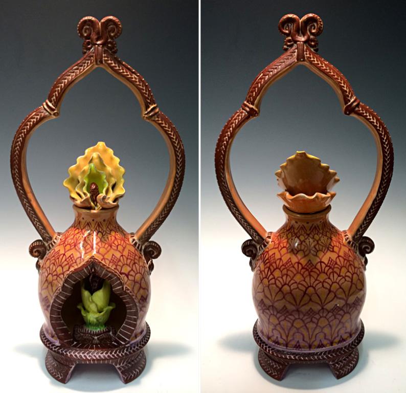 Captured Flame 2 14x6x4 ceramic $975