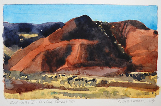 Red Hills I - Painted Desert  3x5  wc  $260