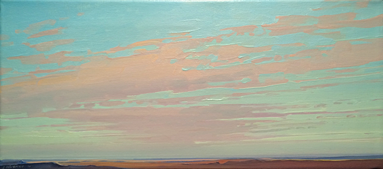 Clouds From Pintado Point  9x20  oc  $770 fr